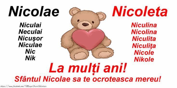 La mulți ani! Sfântul Nicolae sa te ocroteasca mereu!