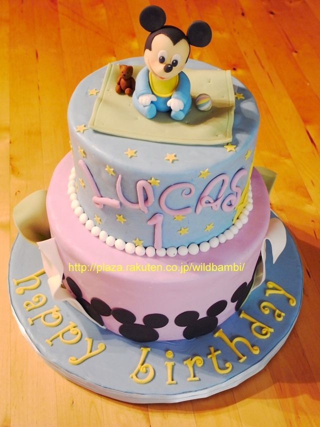 I so want this for Jordan's 1st birthday.  Baby Mickey Mouse Cake