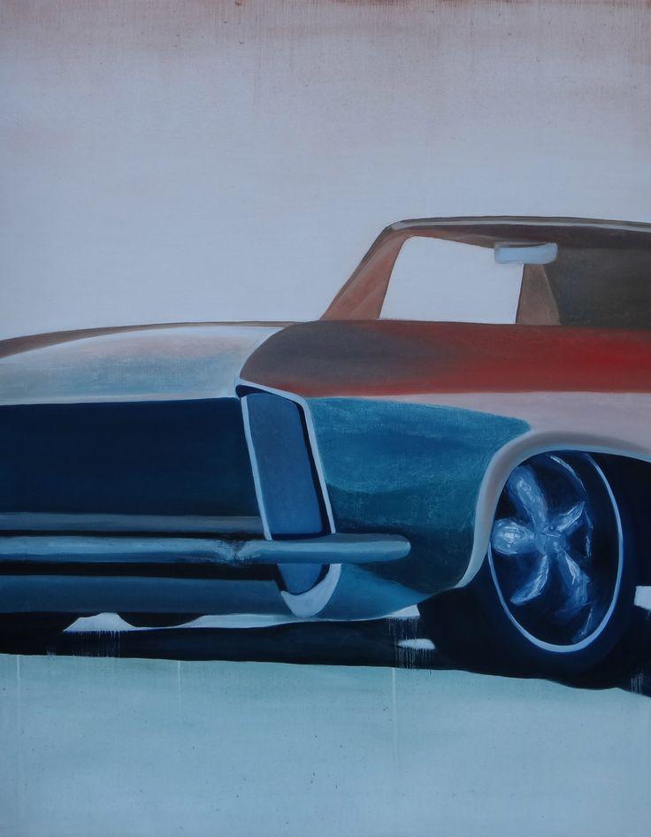 Car III. oil on canvas 140x180cm