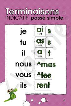 Terminaisons (Temps simples) - Ensemble de 10 affiches