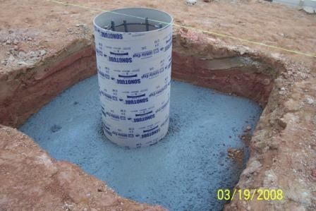 Footings (foundation) for shipping containers