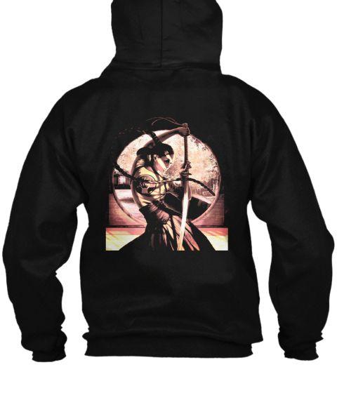 Young Samurai Black Sweatshirt Back