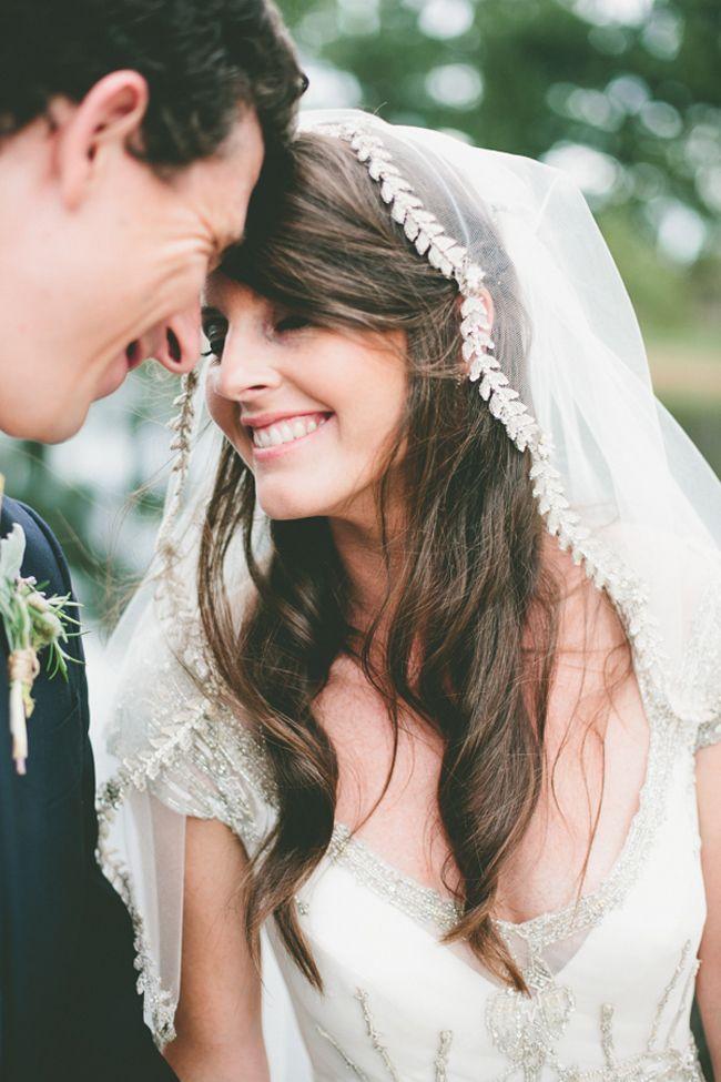 inspiration | silver vine adorned veil | via: amy oliver photography