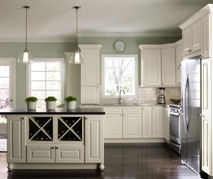 20 amazingly stylish painted kitchen cabinets - Modern Kitchen Cabinets Images