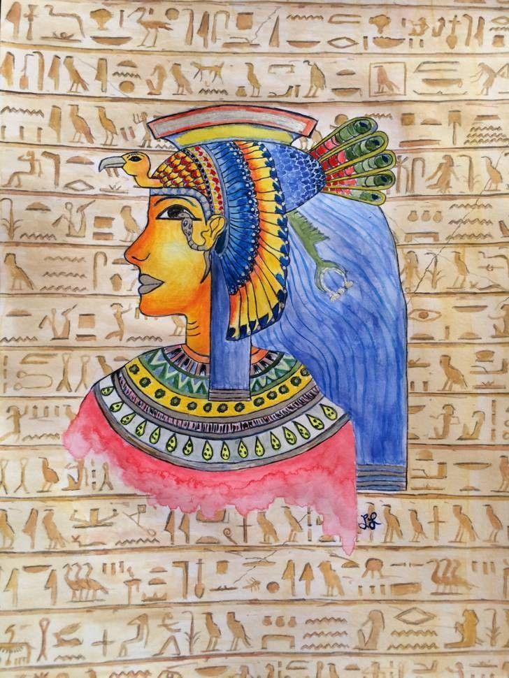 Nefertari, ägyptische Göttin, gemalt mit Aquarell Farben #egypt #egpytian  #egyptiangod #nefertari #god #gott #paint #art …   Malen, Kunst, Ägyptische  göttin
