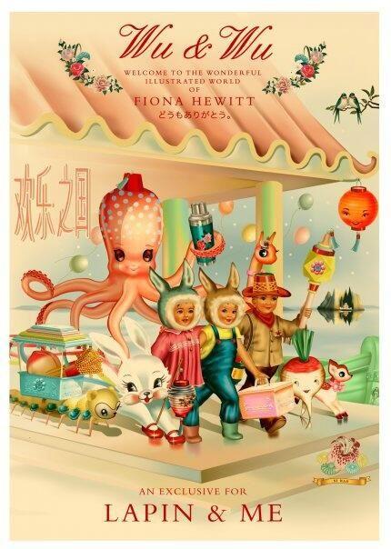 Wu & Wu print~Artwork by Fiona Hewitt