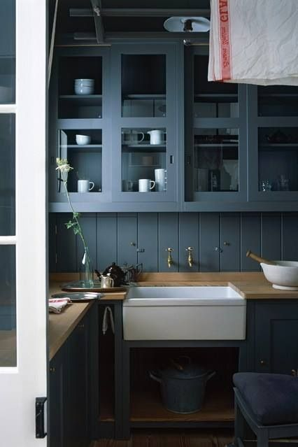Smokey Blue Grey Cabinets Nice