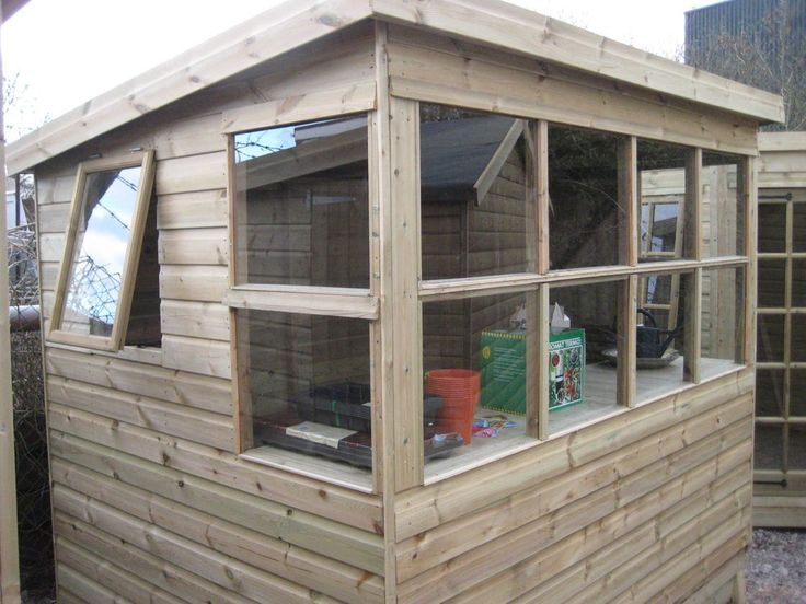 Garden potting shed built with pressure treated tanalised timber in Garden & Patio, Garden Structures & Shade, Garden Sheds | eBay