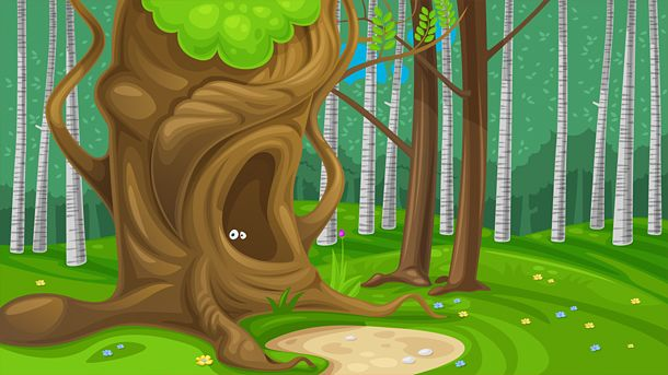 Forrest background for a game