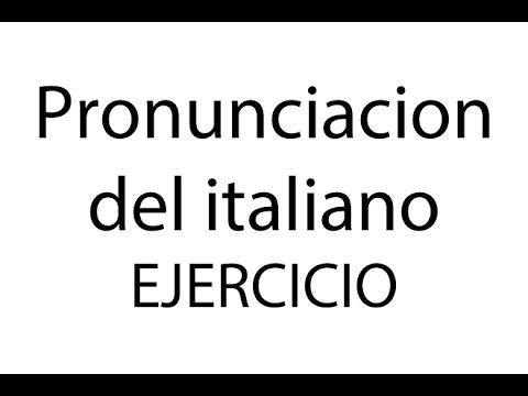 Curso de italiano para hispanohablantes: la pronunciacion