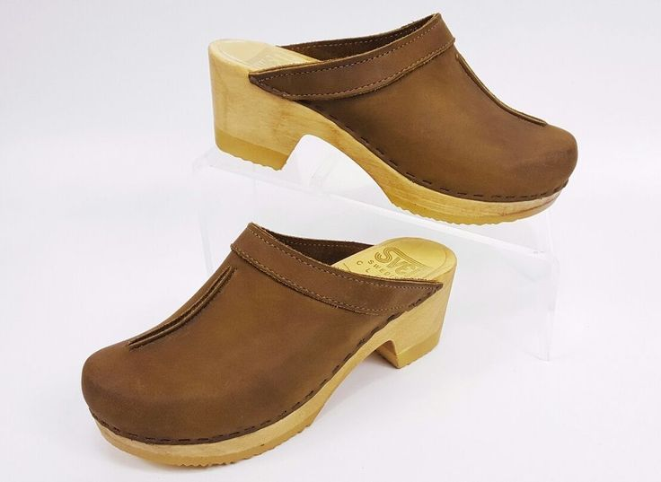 SVEN Original Clogs Womens 37 or 7 US Brown Exposed Seam Great Condition 185.00! | Clothing, Shoes & Accessories, Women's Shoes, Occupational | eBay!