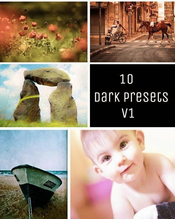 Smfadigital: 10 Dark Presets V-1 Photography Editing Retouching