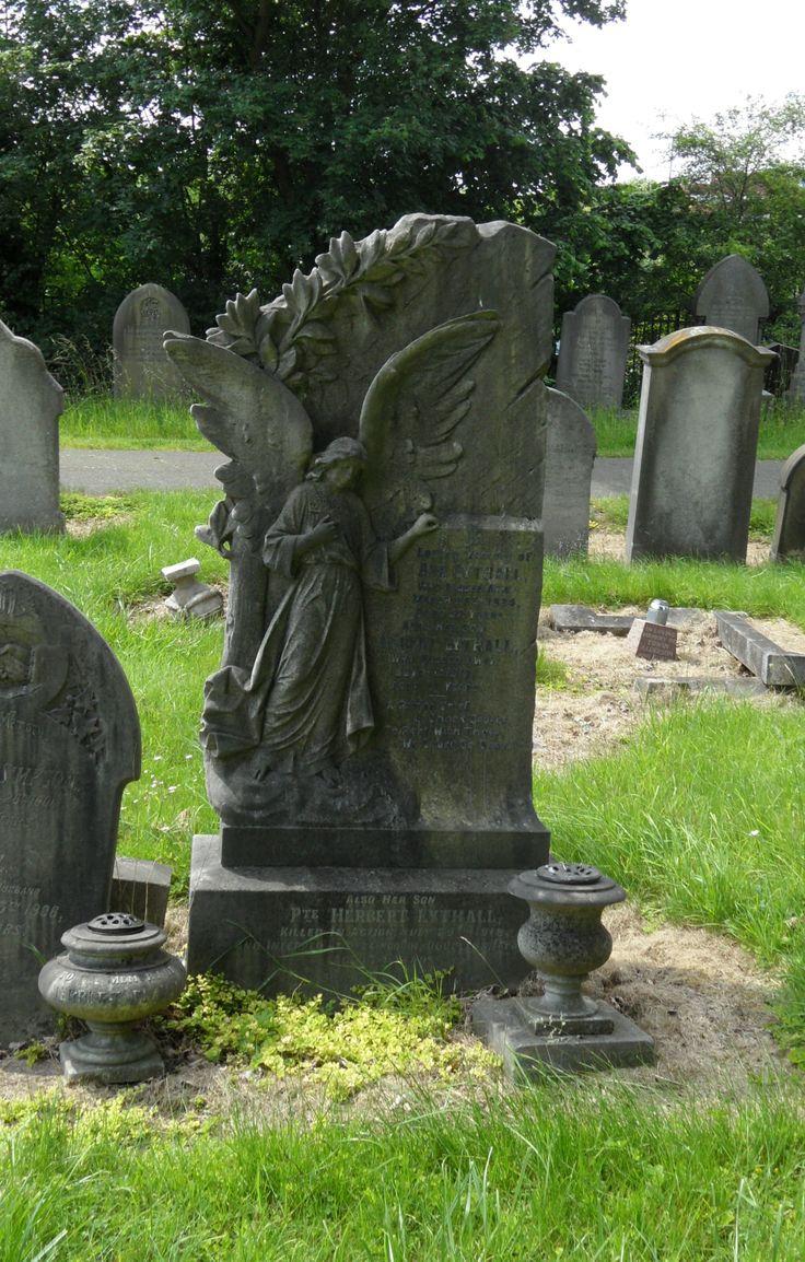 Angel Gravestone in Welford Road Cemetery, Leicester