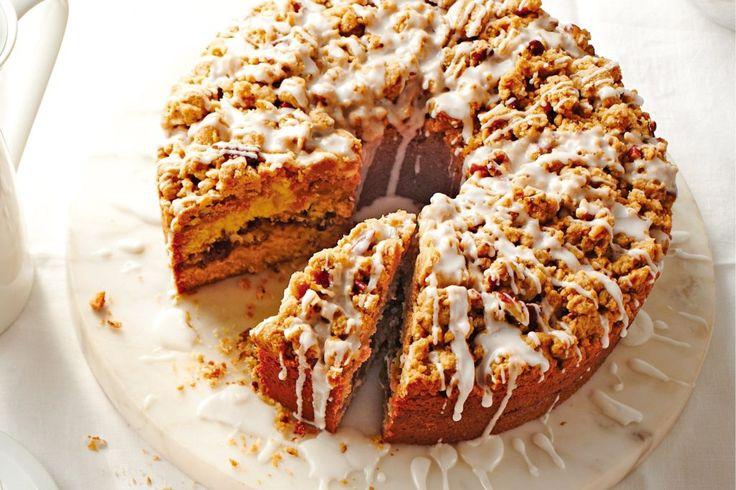 Cinnamon-Streusel Coffee Cake Recipe #cake #food #recipe #cinnamon #coffeecake