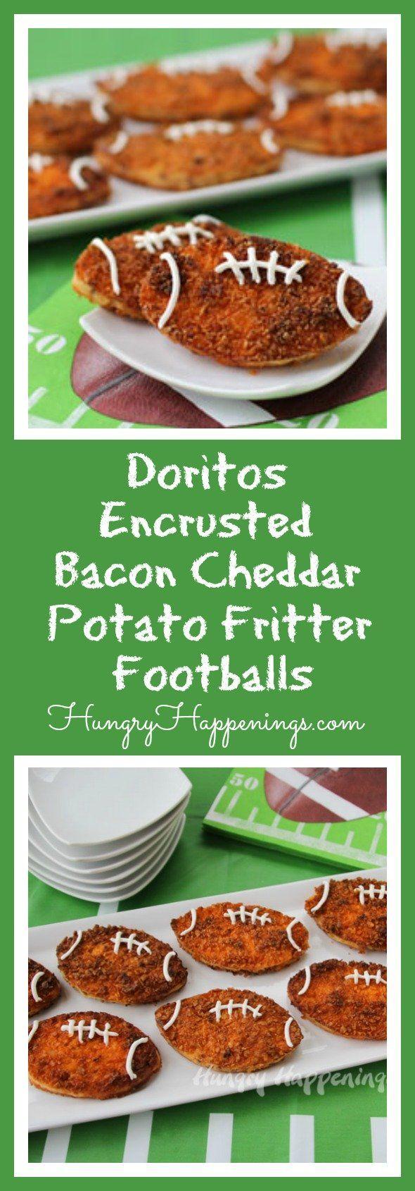 Doritos Encrusted Bacon Cheddar Potato Fritter Footballs