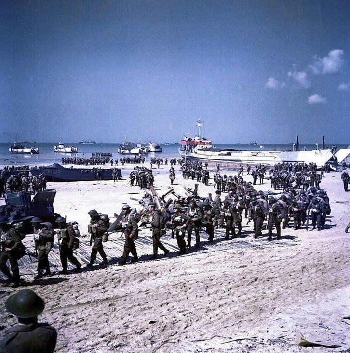 Canadian troops on Juno Beach. June, 1944.