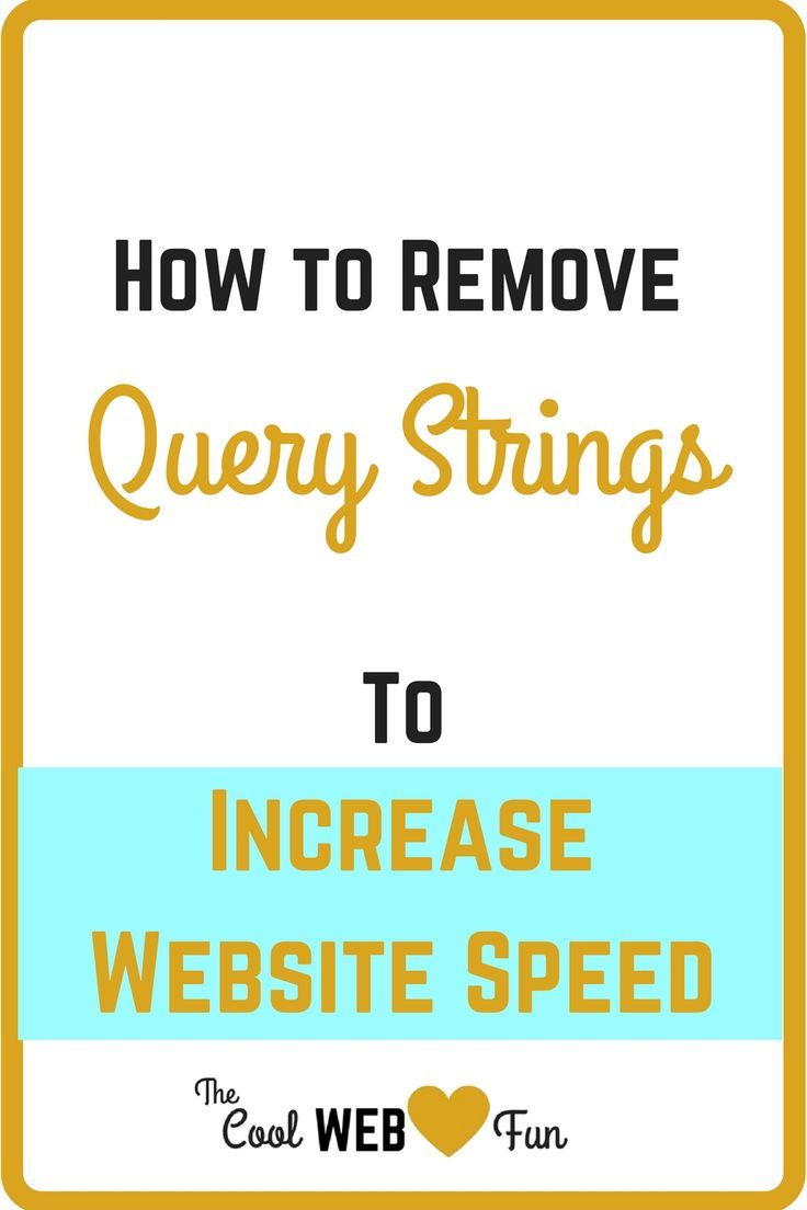 How to remove query strings from static resources and speed up website? You can immensely reduce your wordpress load time by changing small things. Do not wait any more http://www.coolwebfun.com/remove-query-strings-from-static-resources/