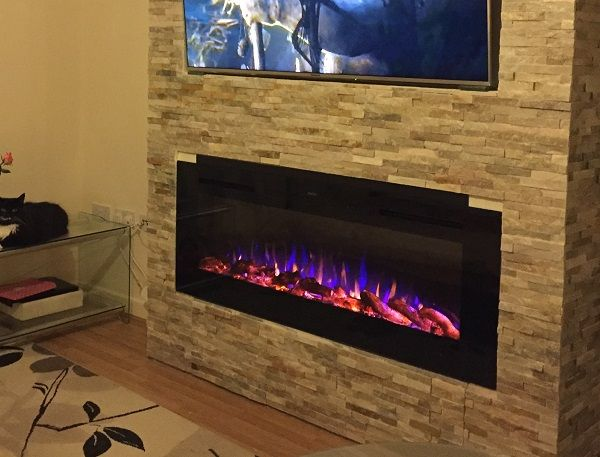 2020 New Premium Product 50inch Black Wall Mounted Electric Fire