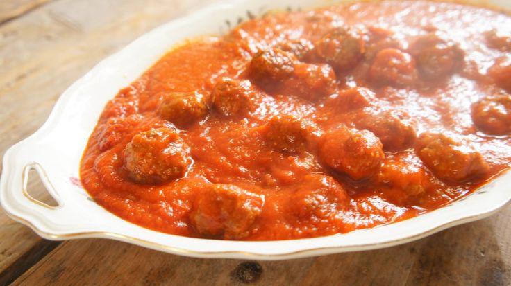 Albondigas, oftewel Spaanse gehaktballetjes in tomatensaus