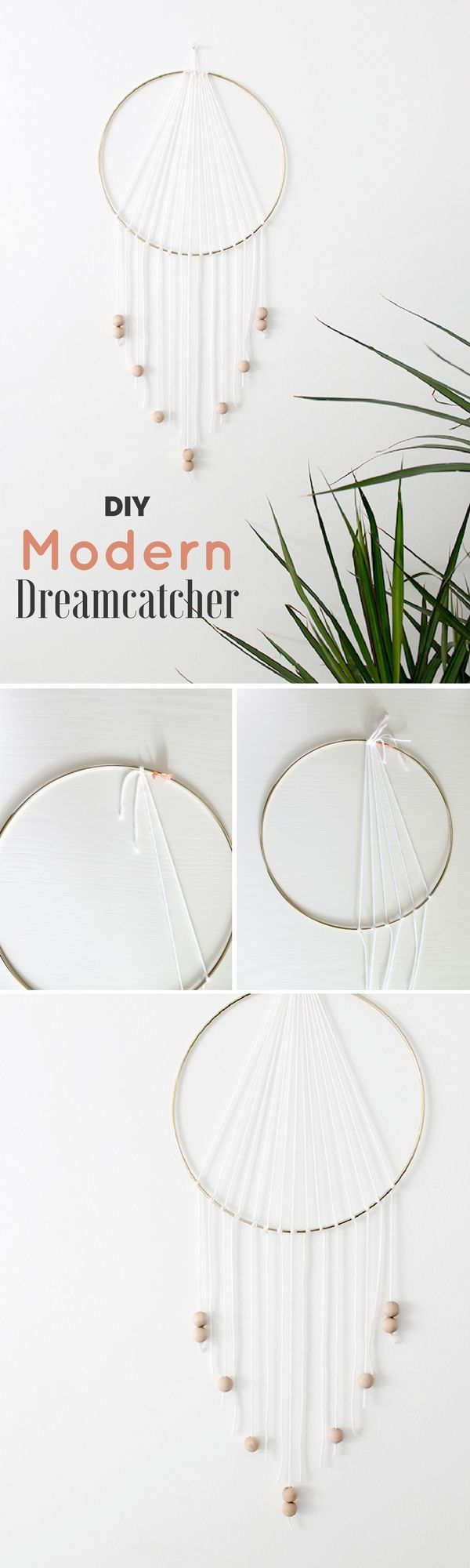 Check out how to make a very easy #DIY Modern Dreamcatcher for bedroom decor #HomeDecorIdeas #BedroomIdeas @istandarddesign