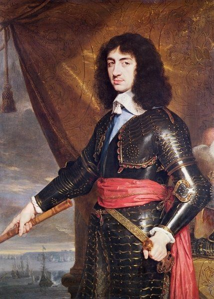 CHARLES II, King of England & Scotland (1630 - 1685), as Prince of Wales and pretender to the british throne. / By Philippe de Champaigne, 1653.