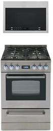 Avanti DGR24P3S 24 Inch Gas Freestanding Range with Sealed Burner Cooktop, 2.6 cu. ft. Primary Oven Capacity, Storage in Stainless Steel   Appliances Connection