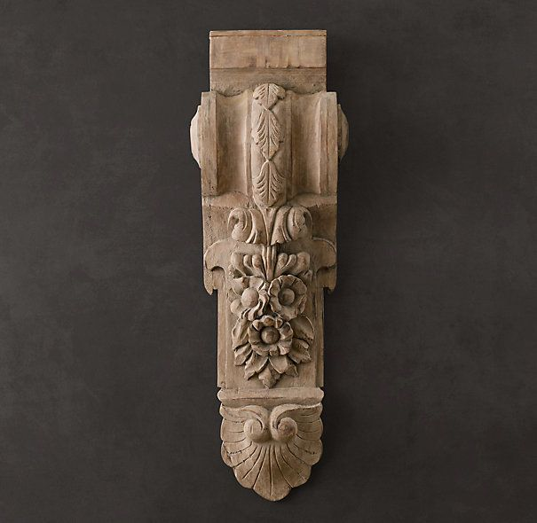 19th C. Baroque Hand-Carved Corbel | Carvings | Restoration Hardware