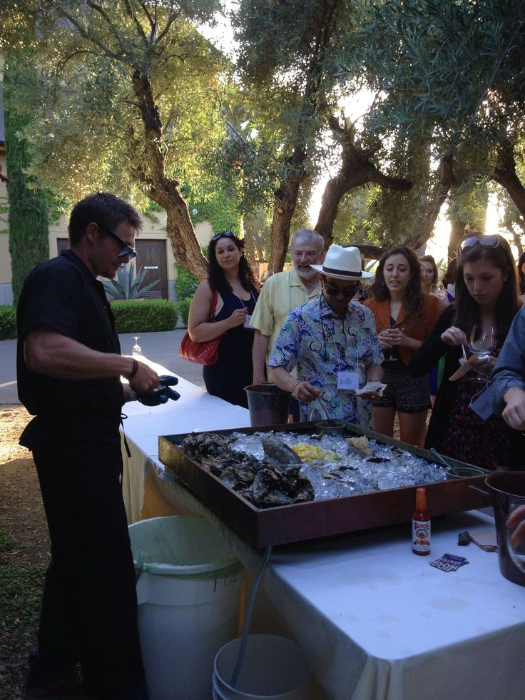 Hog Island Oyster Co. and Round Pond Sauvignon Blanc at Round Pond Estate's Summer Solstice Party.