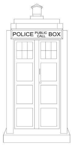 The Tardis embroidery pattern
