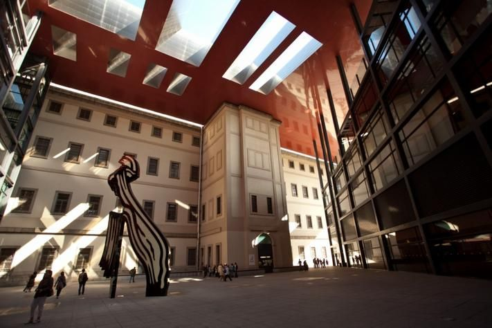 One of our favorite art museums in the world - Reina Sophia Art Museum. Madrid, Spain.