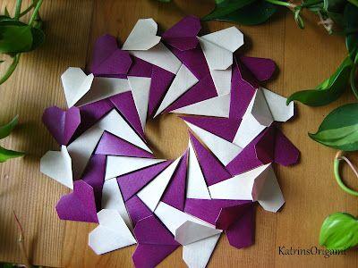 Ghirlanda cuori origami Videotutorial