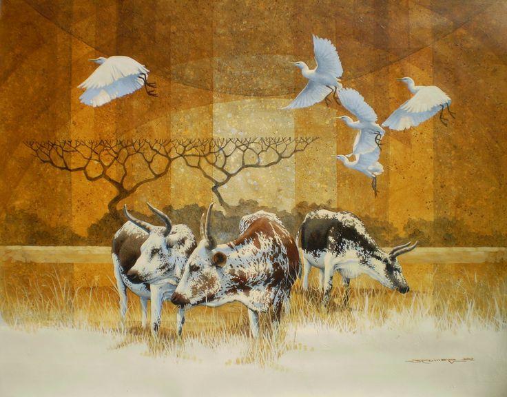 Nguni cattle with Egrets - Charl Bruwer