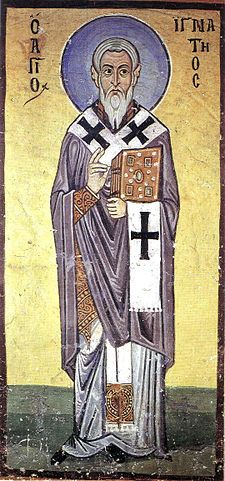 Fresco of St. Ignatius from Hosios Loukas Monastery, Boeotia, Greece Bishop, martyr and Church Father. Born circa 35 Province of Syria, Roman Empire Died circa 107 Rome, Roman Empire.