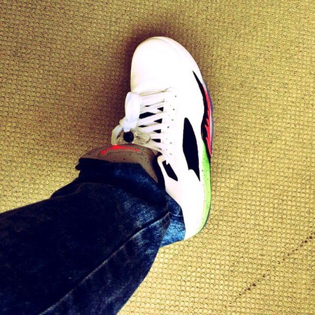 "Good Style! AIR JORDAN 5 RETRO ""POISON GREEN"" #JORDAN5 #JORDAN"