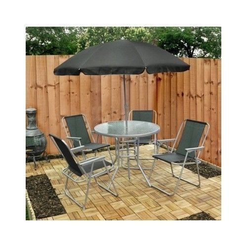 Set of 6 Garden-Patio Furniture s of  Chairs Table And Umbrella