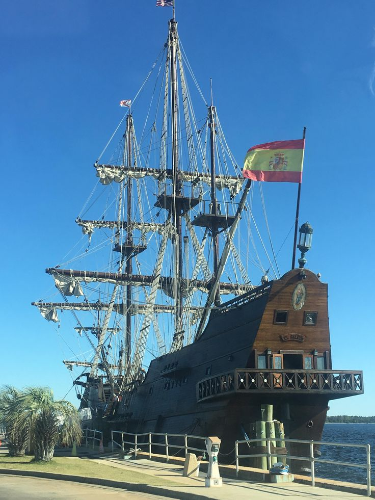 In Panama City Florida we went aboard the... El Galeon Andalucia built in 2009 it is a 16th Century replica of a Spanish sailing ship. It is 125 feet tall a 170ft long and weighs over 495 tons. It was awesome!