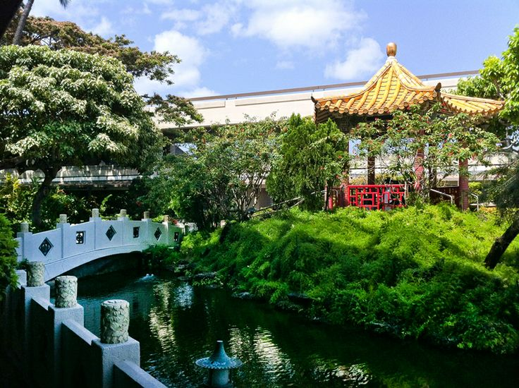 Explore The Honolulu Airport Garden -   Instead of dining at the tables located outside cafes and restaurants in the Honolulu International Airport, take away your meal and bring it to the Honolulu Airport Cultural Gardens.