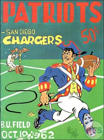 1962 New England Patriots vs the San Diego Chargers game program