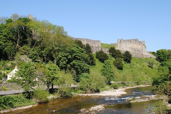 Richmond Castle by the River Swale, North Yorkshire
