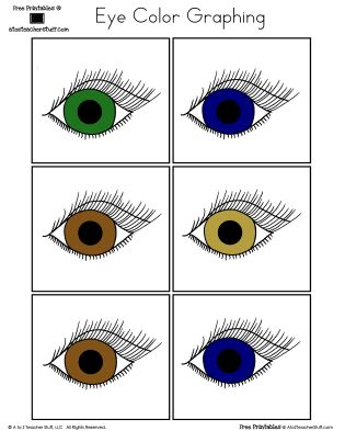 {free printables} Eye Color Graphing - color and black and white printables http://atoztea.ch/1Wm7dF0