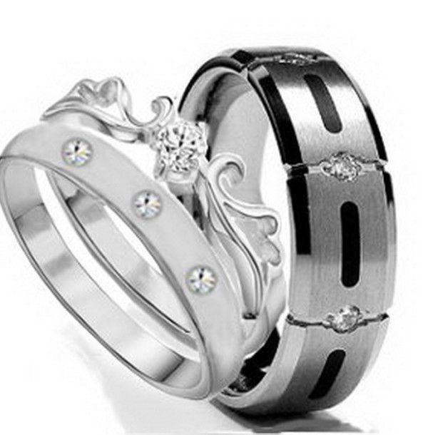 his and hers titanium wedding bands - Mens Titanium Wedding Ring