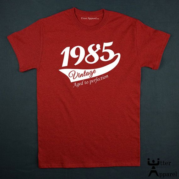 1985 vintage 30th birthday gift for men or woman by UtterApparel