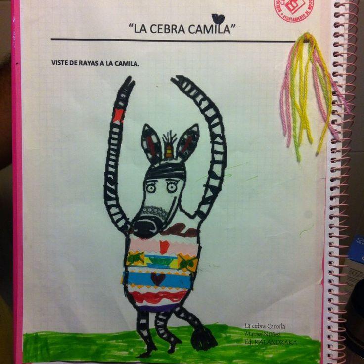 """Taller sobre el cuento """"La cebra Camila"""". #ReciclaCuentos en la Biblioteca Central de Móstoles. 15/7/2014"""