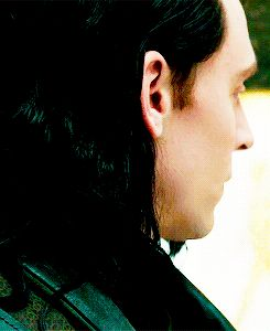 Loki (gif) <3 <3 <3 He's beautiful from every angle :)>>>The sad look on his face here gets me.
