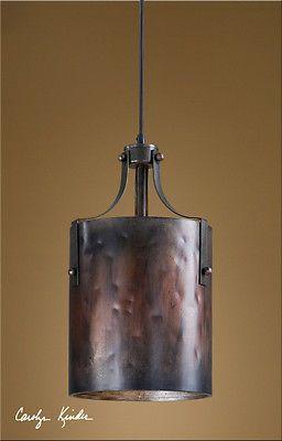 Rustic Tuscan Western Industrial Brown Copper Akron Mini Pendant Light Fixture in Home & Garden, Lamps, Lighting & Ceiling Fans, Chandeliers & Ceiling Fixtures | eBay