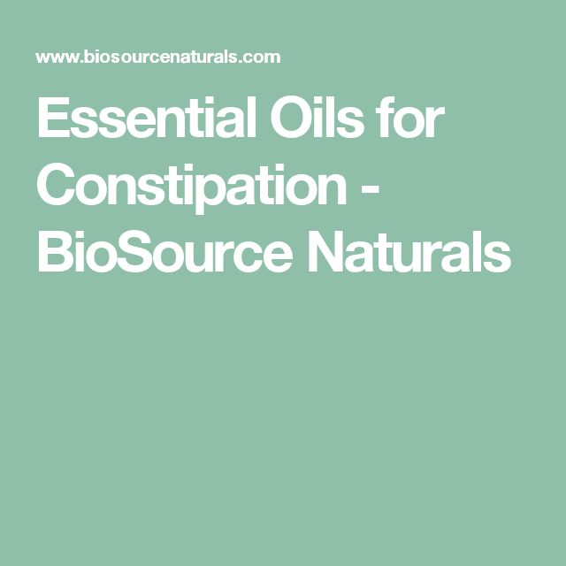 Essential Oils for Constipation - BioSource Naturals