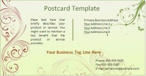 Free Editable Download in MS Word Postcard Template