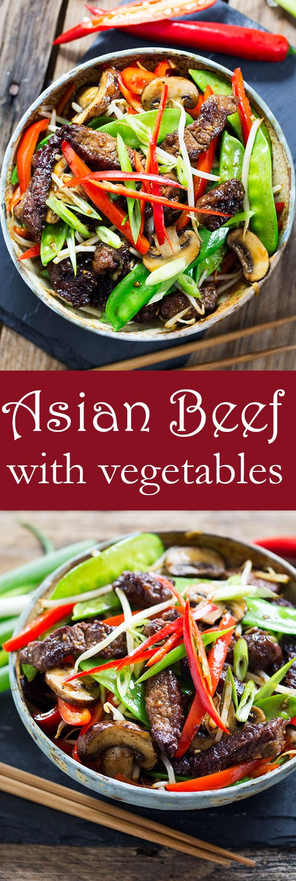 Asian Beef with Vegetables! A quick, nutritious dinner packed full of flavour.