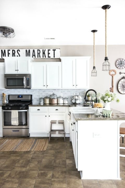 Modern Farmhouse Kitchen Makeover Reveal DIY Projects  Tutorials