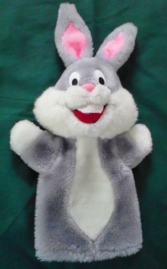 1971 Bugs Bunny Puppet Plush   Hand  Vintage Warner Brothers #WarnerBrothers